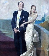 Official Portrait of Juan Domingo Peron and Evita