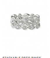 Stackable Deco Rings, $49