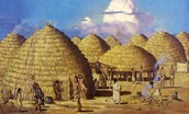 The Caddo people Houses