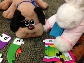Stuffed Animal Puzzle Time
