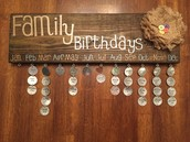 Stained Birthday Boards