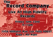 The Record Company Live At High Fidelity Records