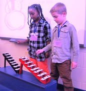Kindergarten step glockenspiel players