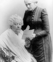 Susan Anthony and Elizabeth stanton