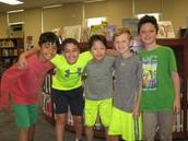 Congratulations 4th grade winning Battle of the Books team!