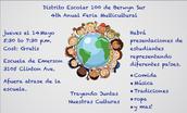 4th Anual Feria Multicultural - Jueves el 14 Mayo