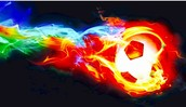 soccer is on fire