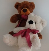 Brown & White Small Bears Assorted