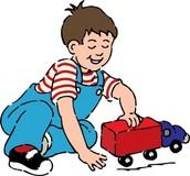 No me gustaba jugar con carritos.