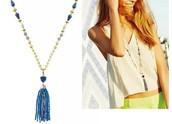 Azure Tassel Necklace Reg $69 -25% sale $52