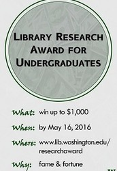 Library Research Award for Undergraduates