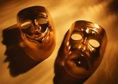 Glittery phantom mask