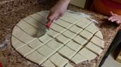 Cutting the dough