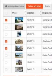 Envoi de document de plusieurs biens en même temps à un contact