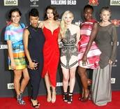 The girl actors in the walking dead.