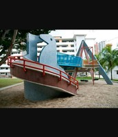 Playgrounds of many housing estate