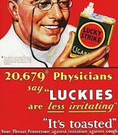 "20,679 physicians say ""luckies are less irritating"""