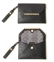 Avalon Clutch Black with Rose Gold