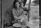 How is the Great Depression shown in the book?