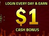 Login & Get $1