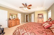 Master Bedroom with Two Walk In Closets