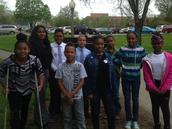 Maize Fifth Graders with History Day Club Advisor Lynda Ray