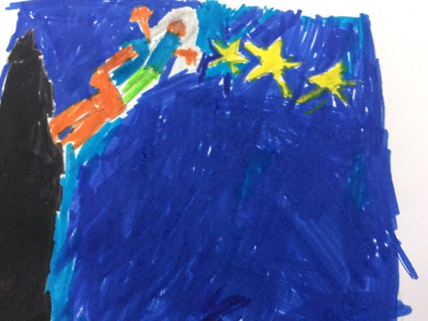 Katie went in the stary night Picture she wanted to get a star but she couldnu0027t reach so she got a chair & KATIE AND THE STARRY NIGHT | Smore Newsletters for Education