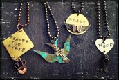 Hand Painted and Stamped Metals