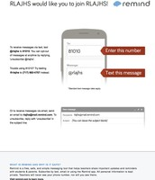 Get JH Updates via text message