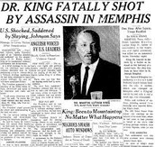 MLK newspaper article