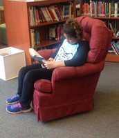 Mya takes a minute to read!