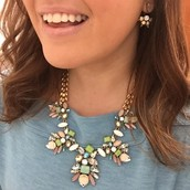 Trellis Necklace!  Beautiful soft pastel stones...goes with so much!