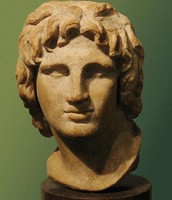 a sculpture of Alexander the great