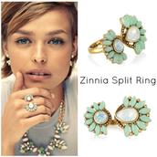 Zinnia split ring (one size fits all) $20