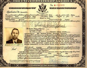 The Certificate of the Applicants Naturalization Process with a Picture