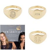 Monogrammed rings $59 - arrives in 5 days or less!