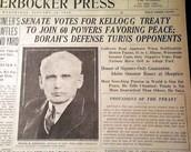 newspaper headline describing the pact