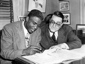 Jackie Robinson at an interview with Branch Rickey.