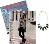 ALLEGRA NECKLACE IN REAL SIMPLE!