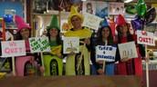 Teachers Dress as Crayon Characters
