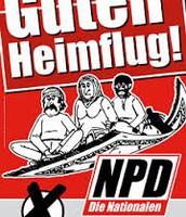 Plakat der NPD