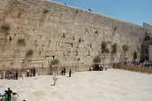 The Western Wall in Jerusalem is a symbol of Judaism in their holy city of Jerusalem, Israel