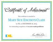 IXL Certificate