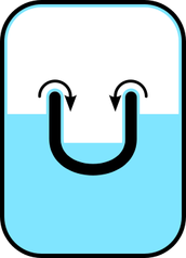 Unlike ordinary liquids, helium II will creep along surfaces in order to reach an equal level; after a short while, the levels in the two containers will equalize.