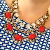 Mae  Necklace (Red one) - $54.00 -SOLD