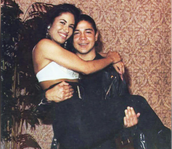 Chris Perez carrying Selena.