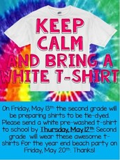 MAY 12TH: WHITE T-SHIRT DUE