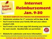 Internet Reimbursement Action Required!