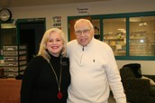 Mr. KIng (right) with his daughter, ELA teacher Mrs. Coveney
