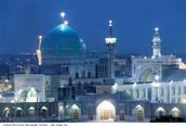 Goharshad Mosque in Mashhad Iran at night